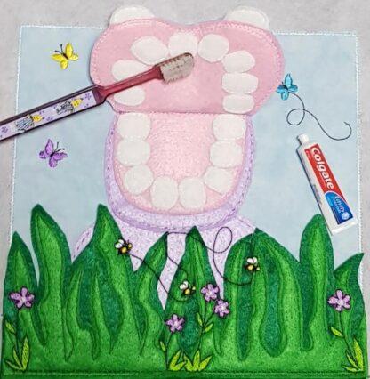 Hippo teeth brushing page
