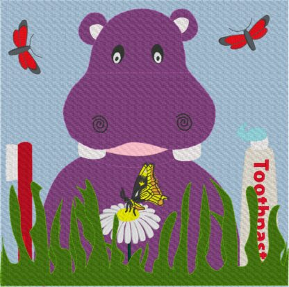 Hippo teeth brushing page - ITHWL