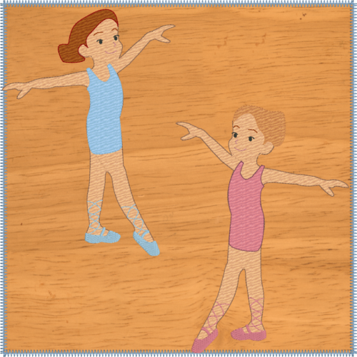 Ballet dancers 8x8 quiet book pages - ITHWL