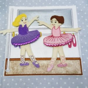 Ballet dancers 8x8 quiet book pages - ITHWL