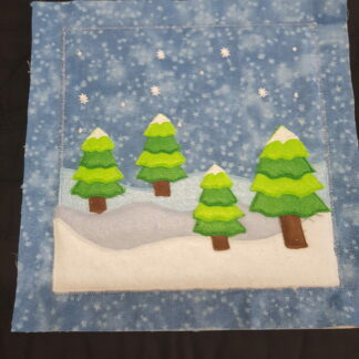Snow scene for finger puppets - ITHWL