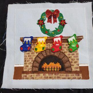 Christmas fireplace & stockings - ITHWL