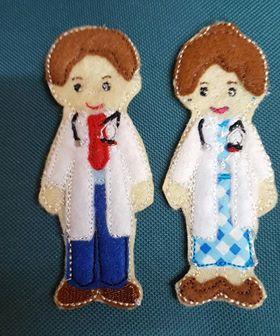 Doctors & scrub nurse non paper doll - ITHWL