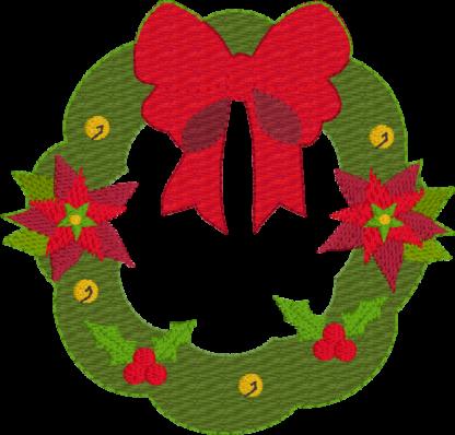 Christmas wreath 4x4 - ITHWL