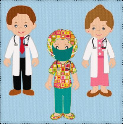 Medical - Doctors & scrub nurse quiet book - ITHWL