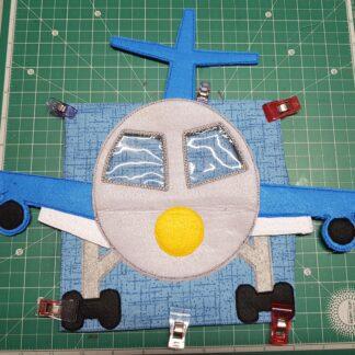 Teddies flight 8x8 quiet book pages - ITHWL