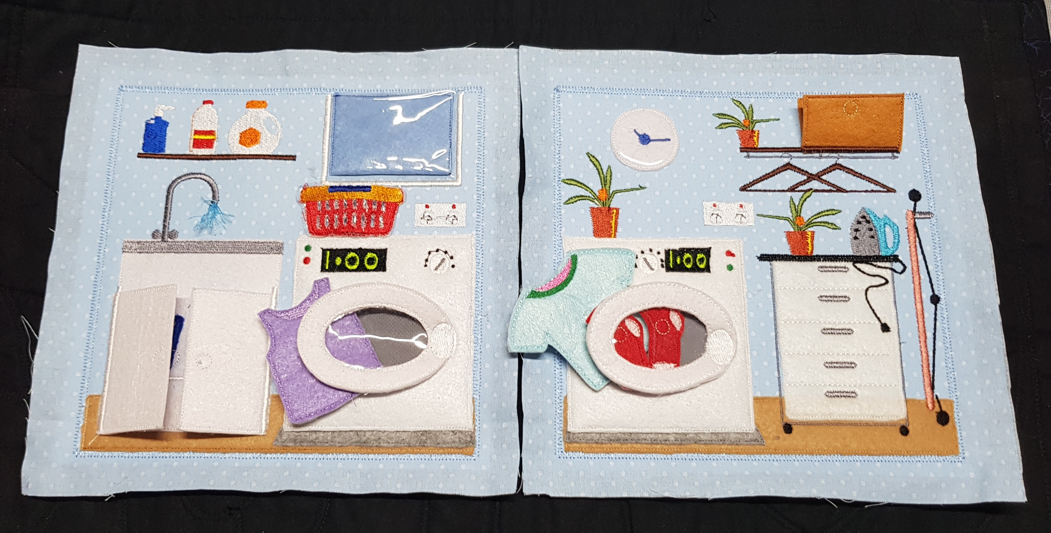 Laundry room 8x8 quiet book pages - ITHWL