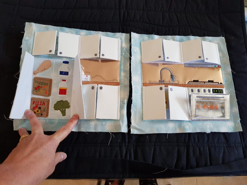 Kitchen quiet book pages - ITHWL