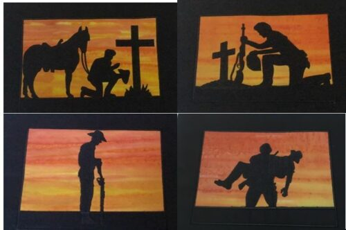 Aussie Soldiers silhouette - ITHWL