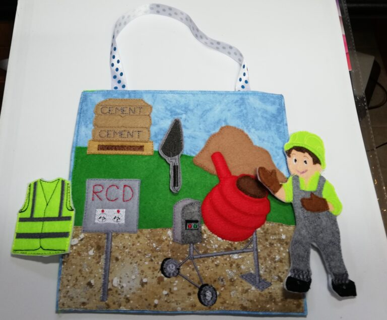 Construction busy bag 8x8 - ITHWL