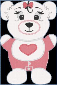 Fosta bear baby girl ND 8x12- ITHWL