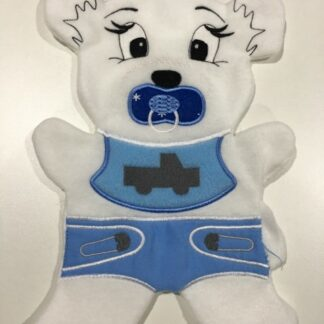Fosta bear boy nappy 6x10- ITHWL