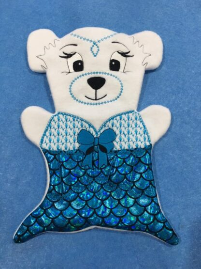 Fosta bear mermaid 8x12- ITHWL
