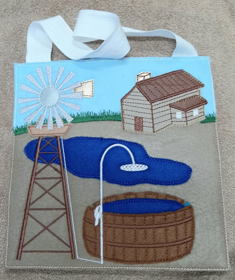 Windmill busy bag 8x8 - ITHWL