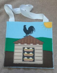 Rooster busy bag 8x8 - ITHWL