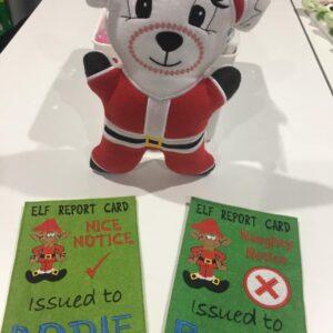 Santa bear & naughty Nice cards - ITHWL
