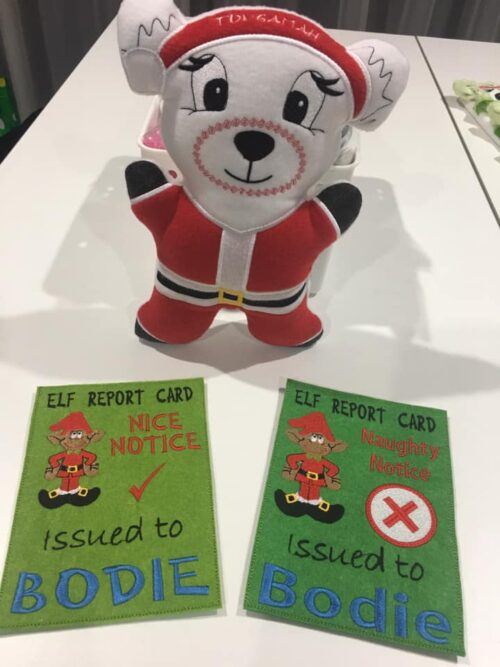 Santa bear & naughty Nice cards - ITHWL