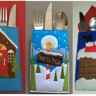Cutlery holder Christmas set - ITHWL