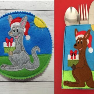 Kangaroo Cutlery holder & coaster