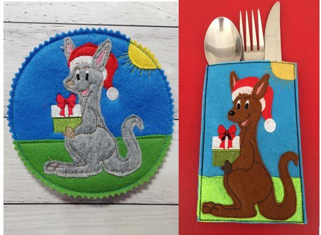Kangaroo Cutlery holder & coaster