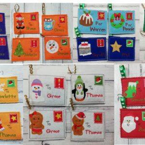 Santa mail set 1-7