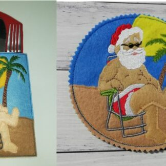 Sunny Santa cutlery holder - ITHWL