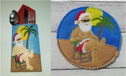 Sunny Santa cutlery holder - ITHWL