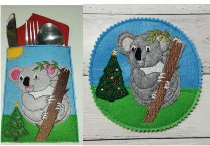 Koala coaster & cutlery holder - ITHWL