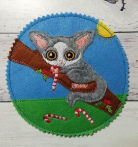 Coaster Christmas possum - ITHWL