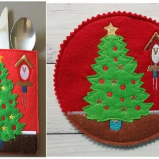Tree cutlery holder & coaster