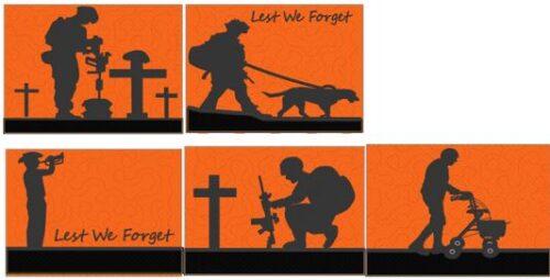 Aussie soldier mug rugs - ITHWL