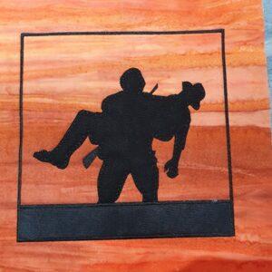 Aussie soldier carry 7.5X11 - ITHWL