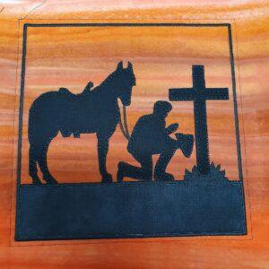 Aussie soldier horse 7.5X11 - ITHWL