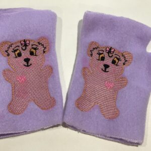 Bear fingerless mittens - ITHWL