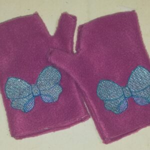 Bow fingerless mittens - ITHWL