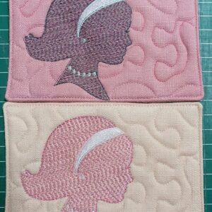 Girl silhouette cup coaster - ITHWL