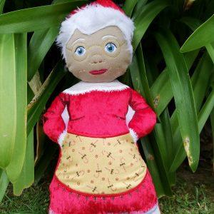 Mrs Claus Santa doll 7.5x11 - ITHWL
