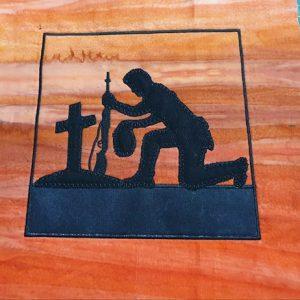 Aussie soldier kneeling 8x8 - ITHWL