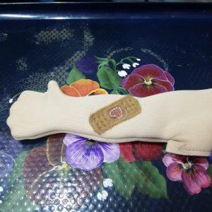 Toddler bandaid arm and leg - ITHWL