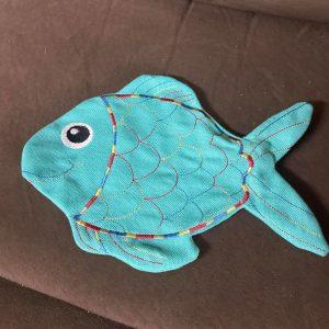 Fish stitched stuffie - ITHWL