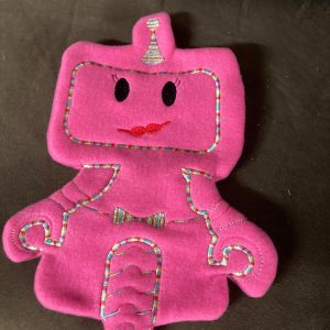 Girl robot stitched stuffie - ITHWL