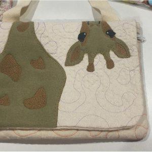 Giraffe zipper flap bag - ITHWL