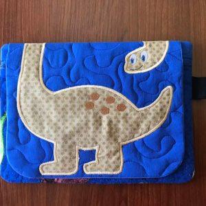 Dinosaur zipper flap bag 7.5x11 - ITHWL