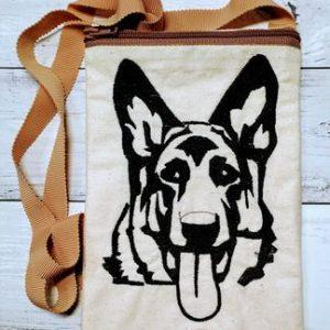 German Shepherd phone poo bag - ITHWL