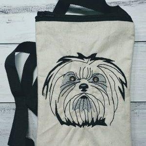 Maltese top zip phone poo bag - ITHWL