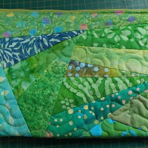 #7 Crazy patch jelly roll zipper pouch - ITHWL