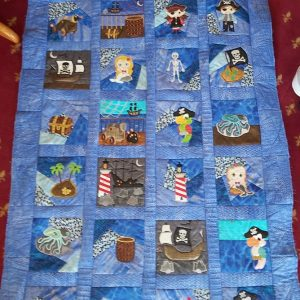 Pirate crazy patch quilt blocks - ITHWL