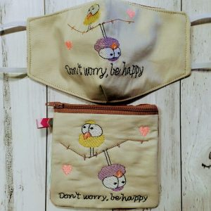 Don't worry, Zipper pouch & mask - ITHWL