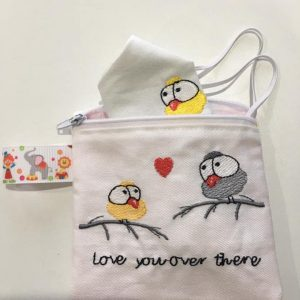 Love you over there zipper pouch - ITHWL